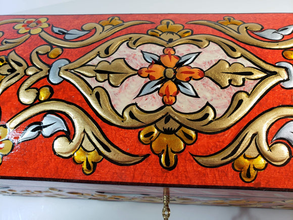 Red Hand Painted 3D Jewelry Box - Gift idea