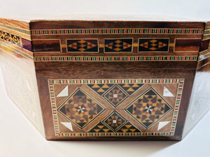 Multipurpose Wooden Syrian Mosaic Box - Gift idea