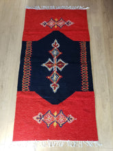 Load image into Gallery viewer, Red and Dark Blue Hand Woven Rug - Gift idea