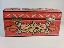 Load image into Gallery viewer, Small Bombeh Hand Painted Wooden Box with 3D Floral Design - Gift idea
