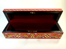 Load image into Gallery viewer, Red Medium Hand Painted 3D Jewelry Box - Gift idea