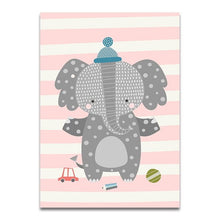 Load image into Gallery viewer, Cartoon Nursery Canvas (Elephant/ Sheep/ Rabbit) - Gift idea