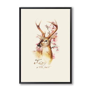 Nostalgic Retro Canvas (Butterflies Feathers Deer) - Gift idea