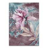 Abstract Scandinavian Flowers Canvas - Gift idea