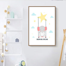 Load image into Gallery viewer, Canvas Nursery Room Decoration (Bear Giraffe Rabbit) - Gift idea