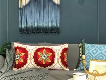 Load image into Gallery viewer, Embroidery Colorful Boho Pillow Cover - Gift idea