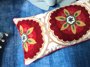 Embroidery Colorful Boho Pillow Cover - Gift idea