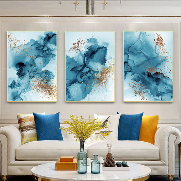 Modern Watercolor Ink Abstract  Canvas - Gift idea
