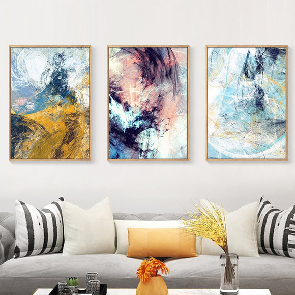 Colorful Abstract Contemporary Canvas - Gift idea