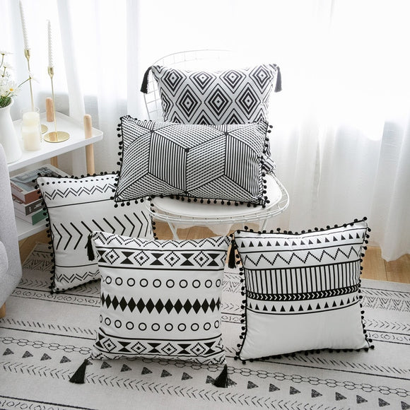 Black & White Decorative Cushion Covers - Gift idea