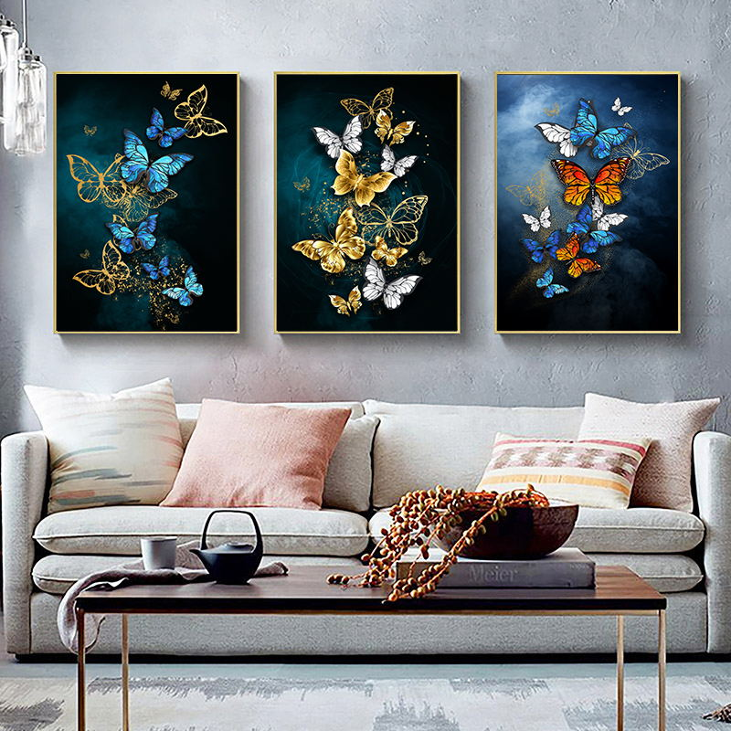 Nordic Style Butterflies Canvas Print