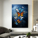 Nordic Style Butterflies Canvas Print - Gift idea