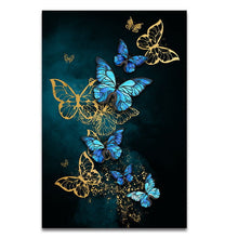 Load image into Gallery viewer, Nordic Style Butterflies Canvas Print - Gift idea