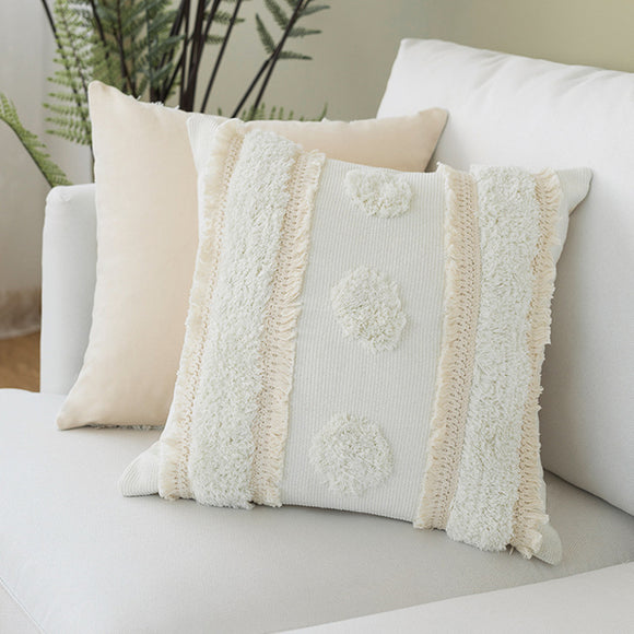 Ivory Cotton Woven Cushion Covers - Gift idea
