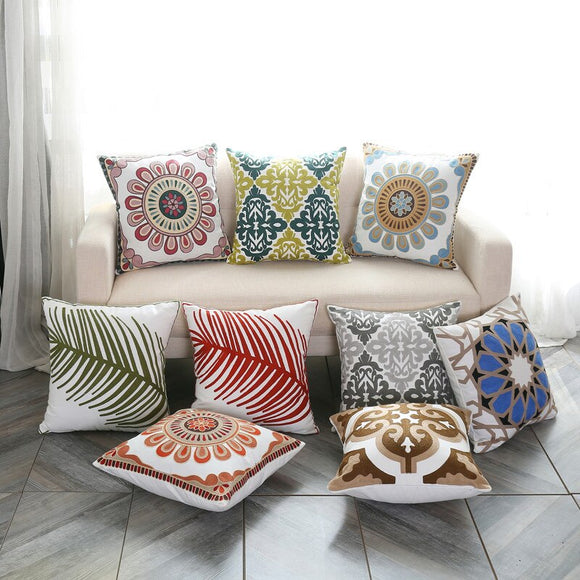 Floral Cushion Cover Ethnic Style - Gift idea