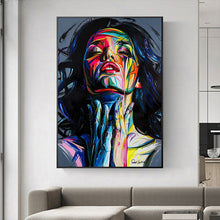 Load image into Gallery viewer, Colorful Woman Abstract Canvas Painting - Gift idea