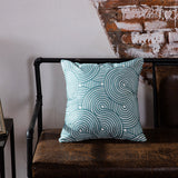 Blue Geometric Embroidered Cushion Covers - Gift idea