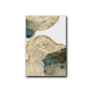 Leaf and Trunk Texture Abstract Wall Art - Gift idea