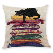 Load image into Gallery viewer, Sleeping Cat Throw Pillow Case - Gift idea