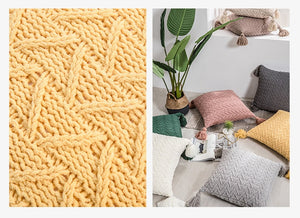 Crochet Knitted Cushion Cover - Gift idea