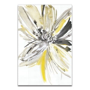 Flowers Watercolor Abstract Canvas - Gift idea