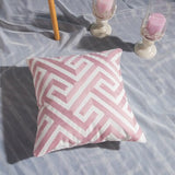 Pink Geometric Cotton Pillow Cases - Gift idea
