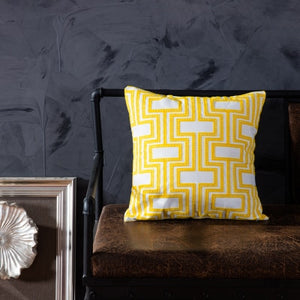 Yellow Cotton Embroidered Cushion Covers - Gift idea