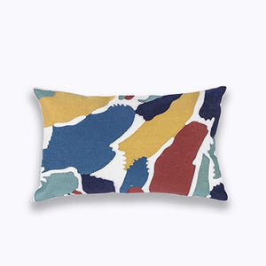 Colorful Embroidered Cushion Cover - Gift idea