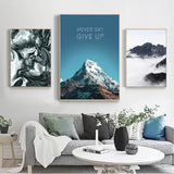 Nordic Modern Mountain Landscape Canvas - Gift idea