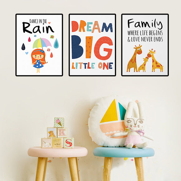 Cartoon Canvas Print Poster Child Room Decor - Gift idea