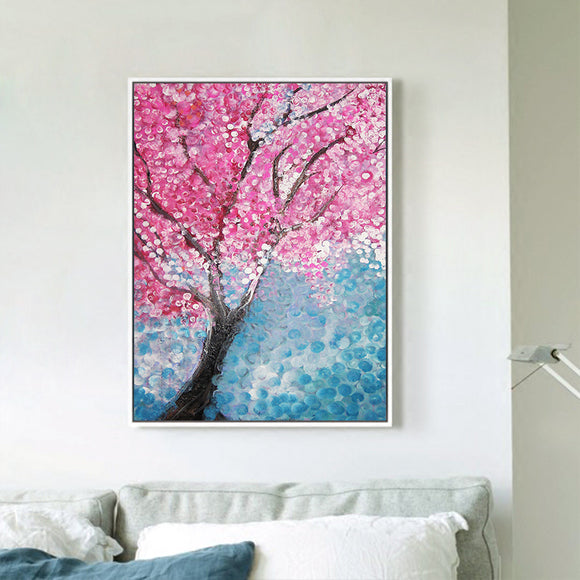 Hand Drawn Cherry Blossom Canvas - Gift idea