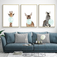 Load image into Gallery viewer, Cute Blue Bubblegum Animal (Zebra/Giraffe/Koala/Kangaroo) - Gift idea