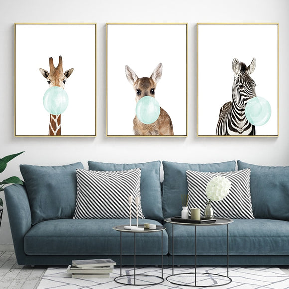Cute Blue Bubblegum Animal (Zebra/Giraffe/Koala/Kangaroo) - Gift idea