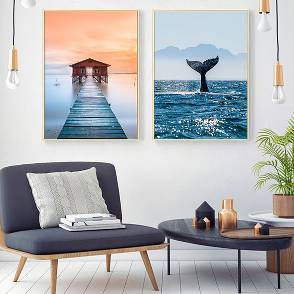 Modern Minimalist Seaside Canvas - Gift idea