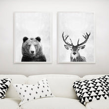 Load image into Gallery viewer, Modern Animals (Tiger/ Bear/ Deer/ Buck) Canvas - Gift idea