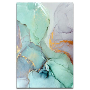 Abstract Green Stone Canvas - Gift idea