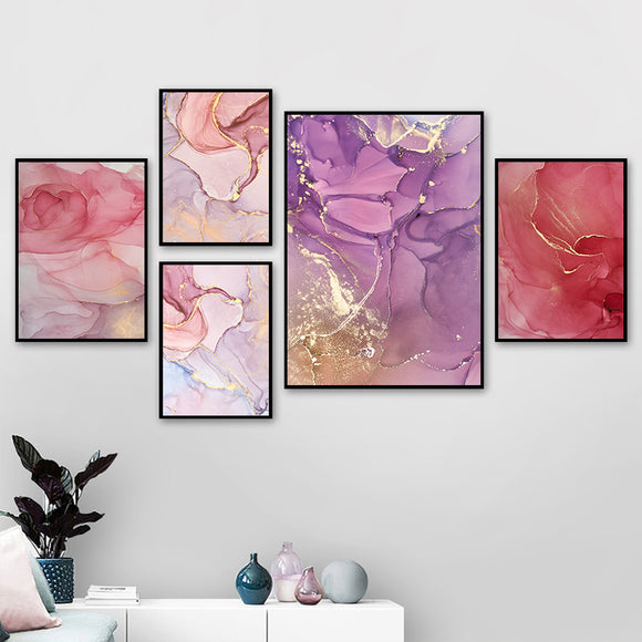Modern Abstract Colorful Petals Ink Canvas - Gift idea