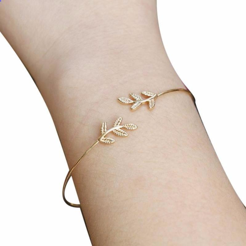 Natures Leaves Cuff Bracelet
