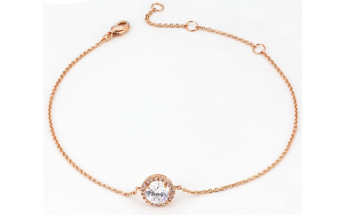 Rose Gold Chain-Link Bracelet
