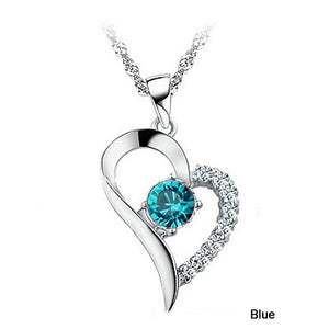 Heart Shaped Rhinestone Pendant