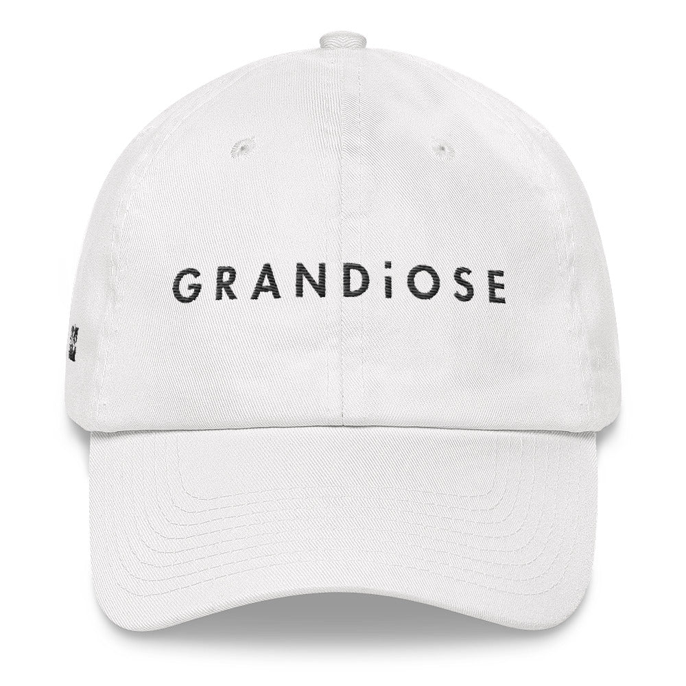 Grandiose Oversized Hat   Crowned in White