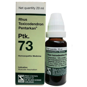 Rhus Toxicodendron Pentarkan (Ptk-73) buy online homoeopathic medicines the homoeopathy store