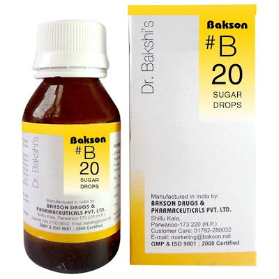 Bakson B20  Buy online homoeopathic medicine the homoeopathy store
