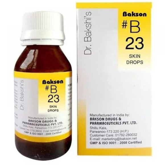 Bakson B23  Buy online homoeopathic medicine the homoeopathy store