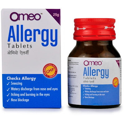 Omeo allergy tabs by bjain buy online the homoeopathy store