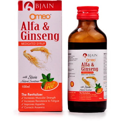 Omeo alfa & ginseng syrup SF by bjain buy onlne the homoeopathy store
