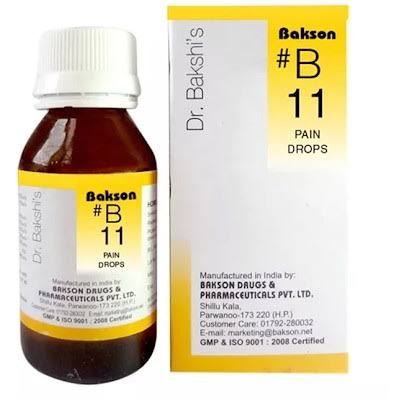 Bakson B11 Drops buy online the homoeopathy store