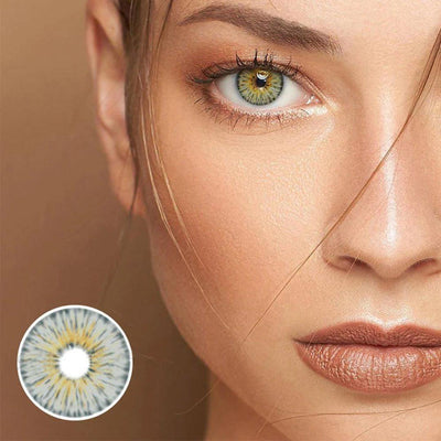 New York Gogh Grey Prescription Yearly Colored Contacts