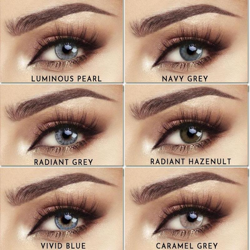 [US Warehouse] Glow Navy Grey Yearly Colored Contacts