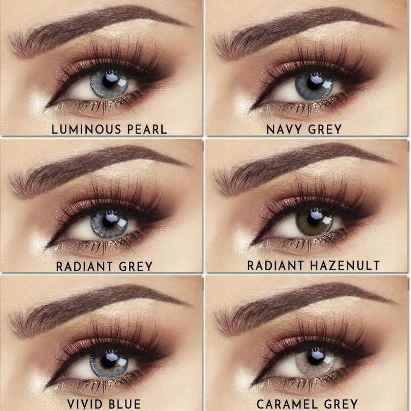 [US Warehouse] Glow Grey Caramel Yearly Colored Contacts